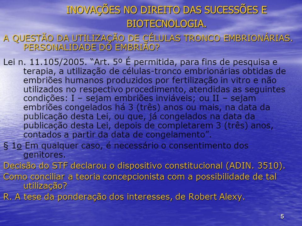 5 INOVAÇÕES NO DIREITO DAS SUCESSÕES E BIOTECNOLOGIA.
