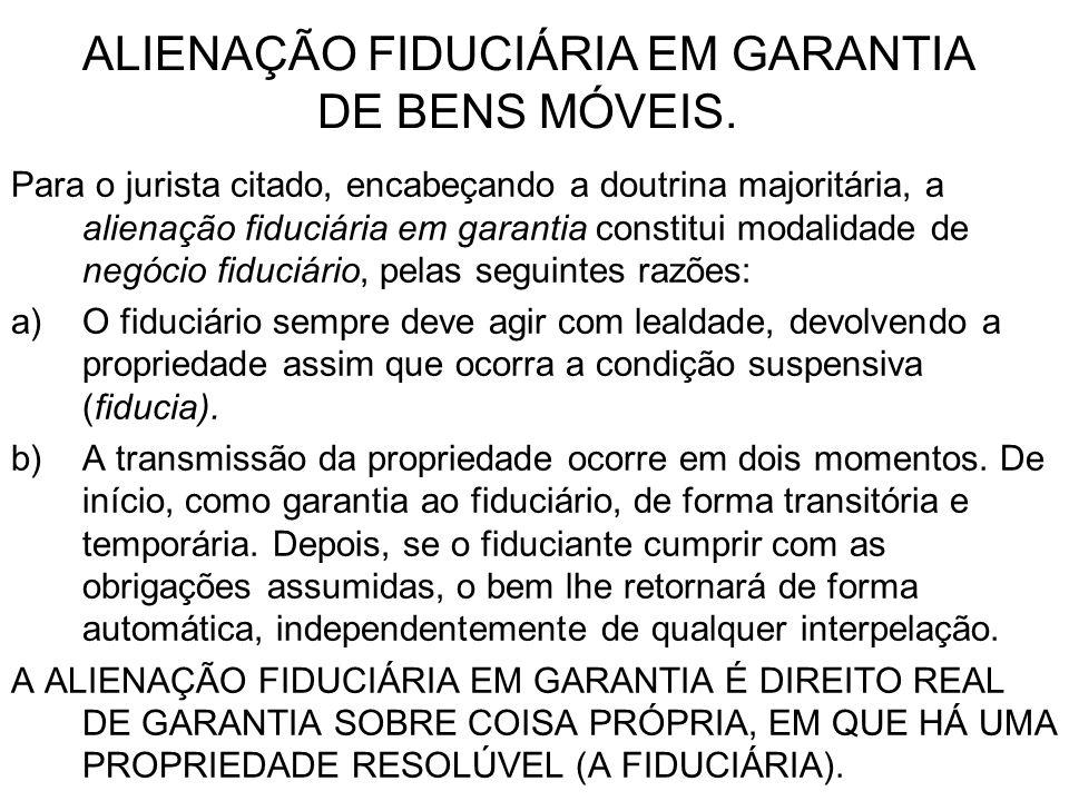 O ESQUEMA LÓGICO DA ALIENAÇÃO FIDUCIÁRIA EM GARANTIA (DESENHO À MÃO).