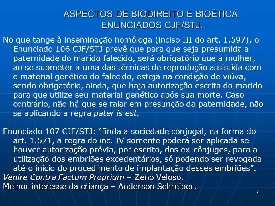 5 ASPECTOS DE BIODIREITO E BIOÉTICA. ENUNCIADOS CJF/STJ.