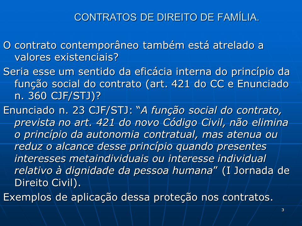14 CONTRATOS DE DIREITO DE FAMÍLIA.