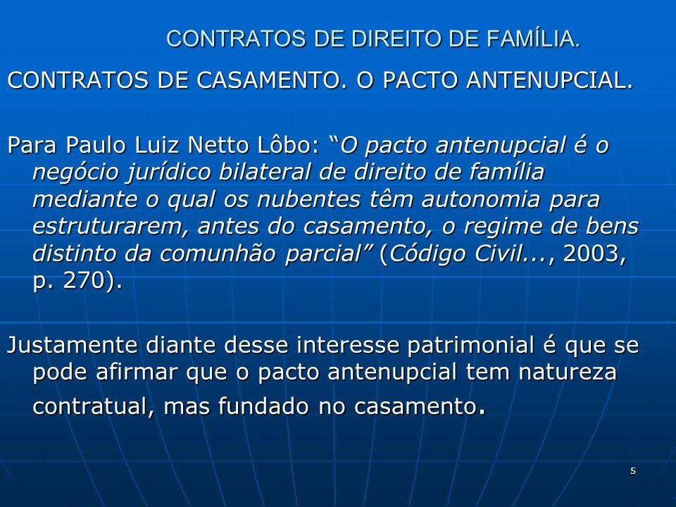 6 CONTRATOS DE DIREITO DE FAMÍLIA.PACTO ANTENUPCIAL.