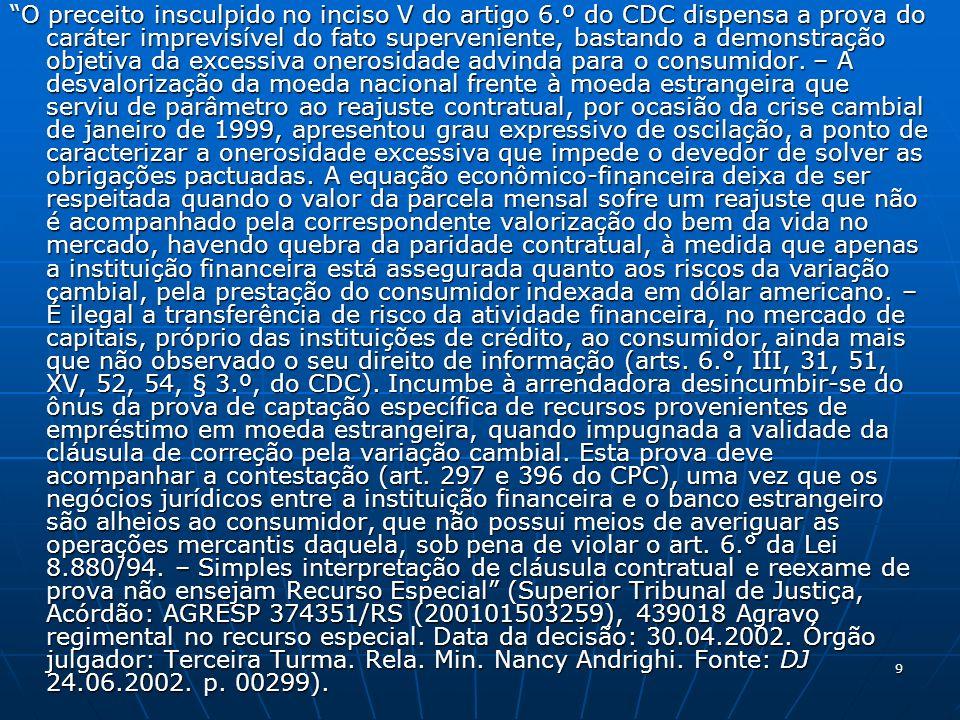 10 EXPERIÊNCIAS JURISPRUDENCIAIS A FAMOSA REVISÃO DOS CONTRATOS DE LEASING PELO STJ: JULGADO 3.