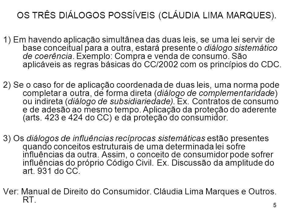 5 OS TRÊS DIÁLOGOS POSSÍVEIS (CLÁUDIA LIMA MARQUES).