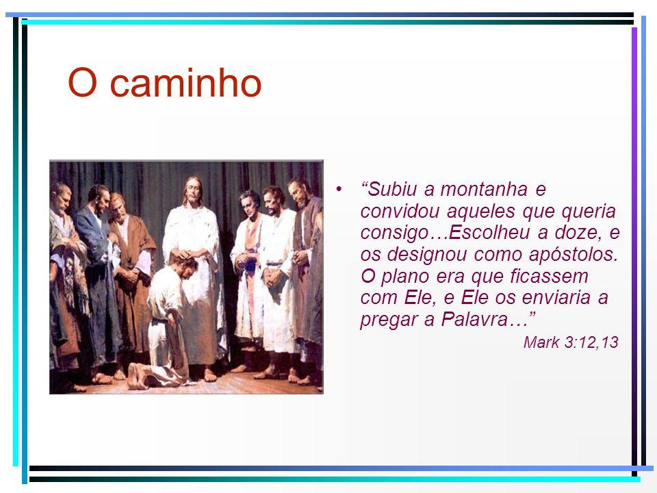 Subiu a montanha e convidou aqueles que queria consigo…Escolheu a doze, e os designou como apóstolos. O plano era que ficassem com Ele, e Ele os envia