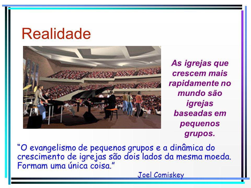 Realidade As igrejas que crescem mais rapidamente no mundo são igrejas baseadas em pequenos grupos. O evangelismo de pequenos grupos e a dinâmica do c