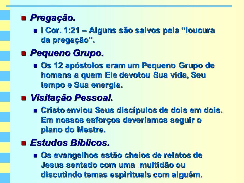 Pregação. Pregação. I Cor. 1:21 – Alguns são salvos pela loucura da pregação. I Cor. 1:21 – Alguns são salvos pela loucura da pregação. Pequeno Grupo.