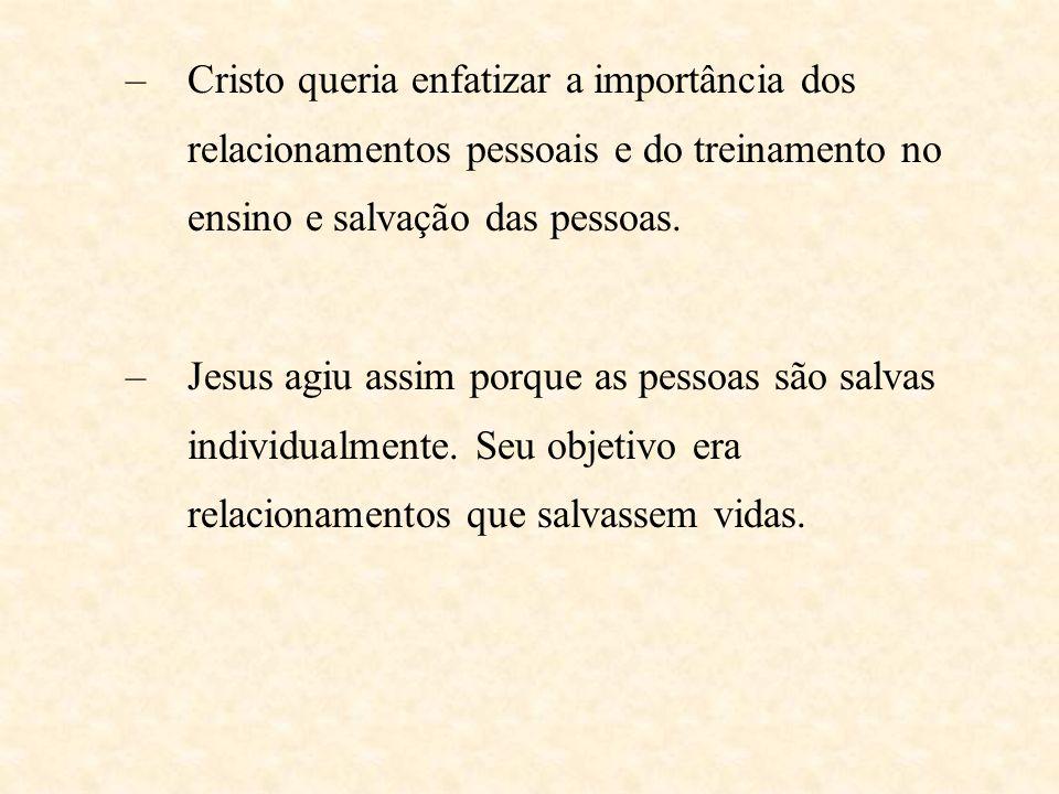 5. Jesus: Quando Jesus estava pronto para fundar a igreja cristã, Ele começou com um pequeno grupo. –Lucas 6:13-16 mostra que Ele escolheu 12 discípul