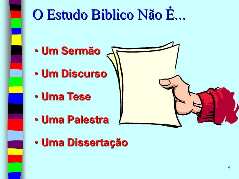 5 É o ensino de um tema Bíblico através de Perguntas e Respostas.