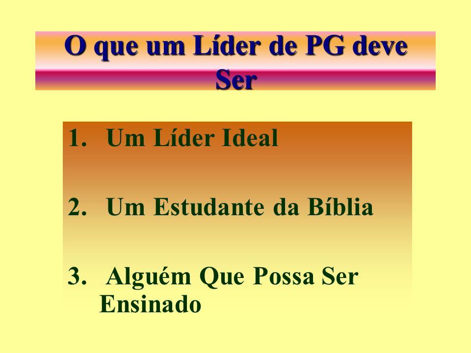 Verbos Indispensável de um Líder de PG 1. SER 2. TER 3.FAZER