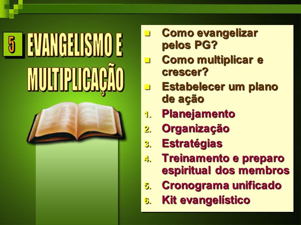 Como evangelizar pelos PG.Como multiplicar e crescer.