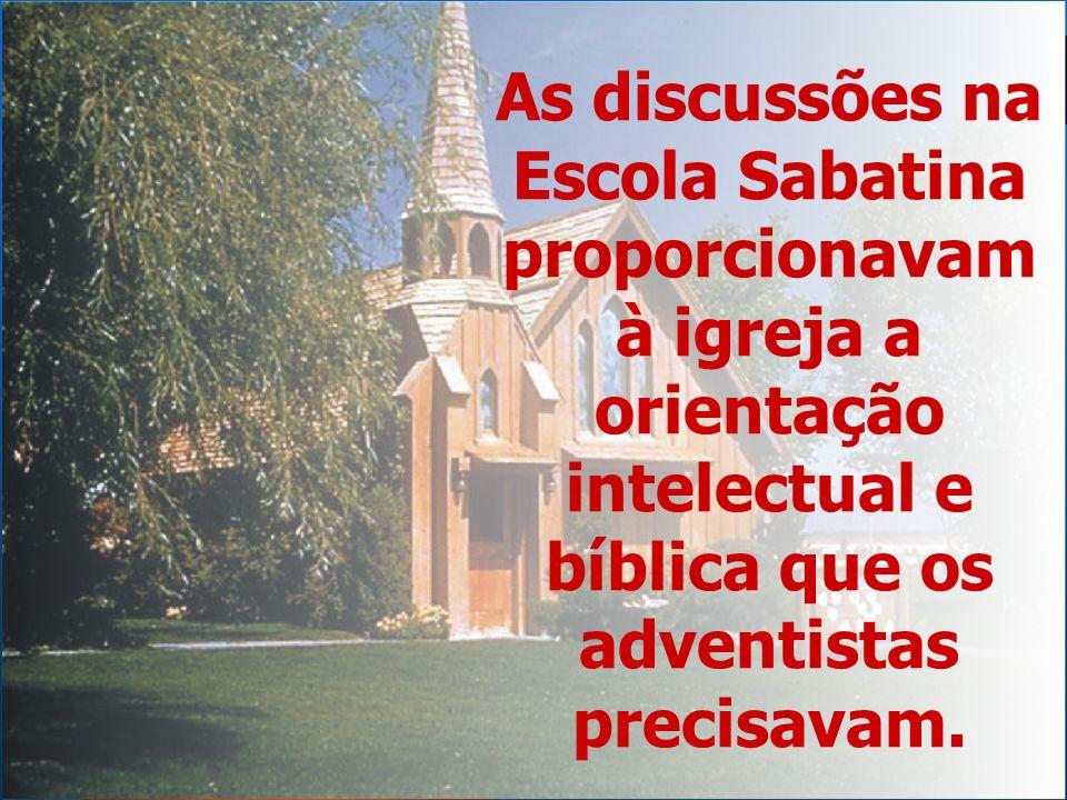 Os adventistas primitivos viam que o adventismo não devia preocupar-se apenas com a adoração coletiva e o desenvolvimento mental do crente.