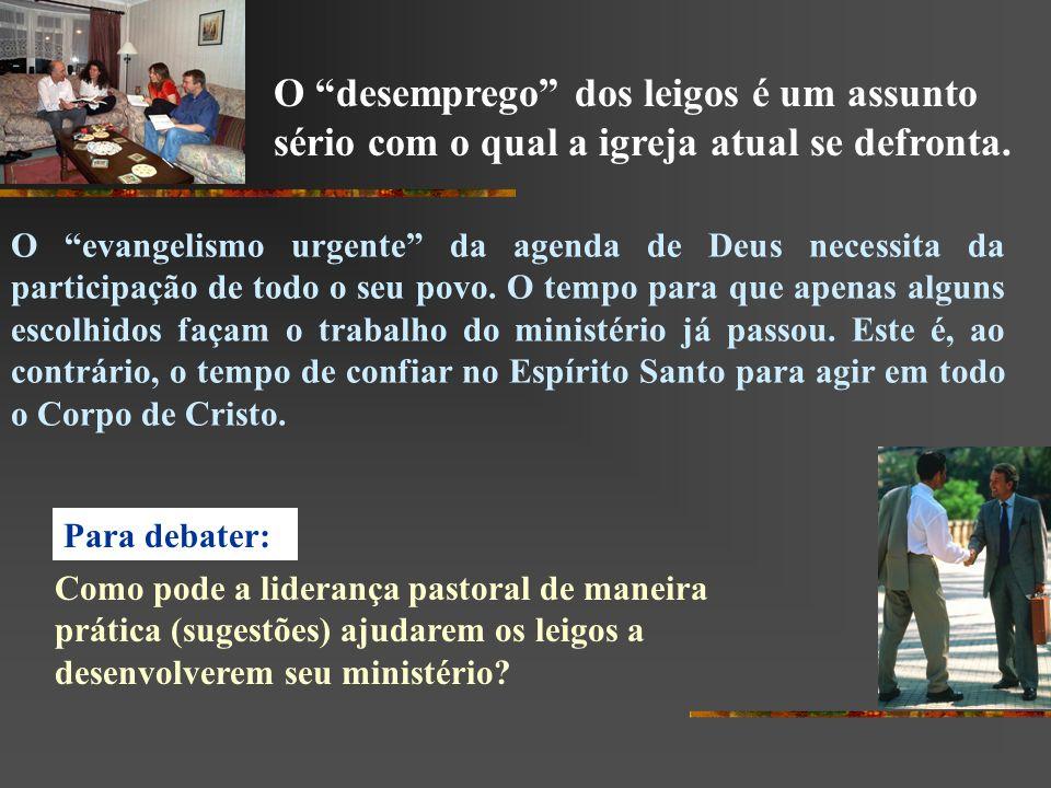 O evangelismo urgente da agenda de Deus necessita da participação de todo o seu povo. O tempo para que apenas alguns escolhidos façam o trabalho do mi