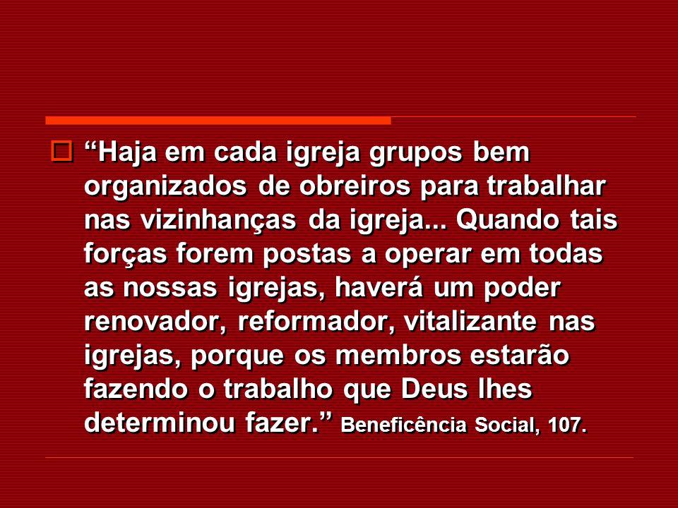 A formação de pequenos grupos como base de esforço cristão, foi-me apresentada por Aquele que não pode errar.