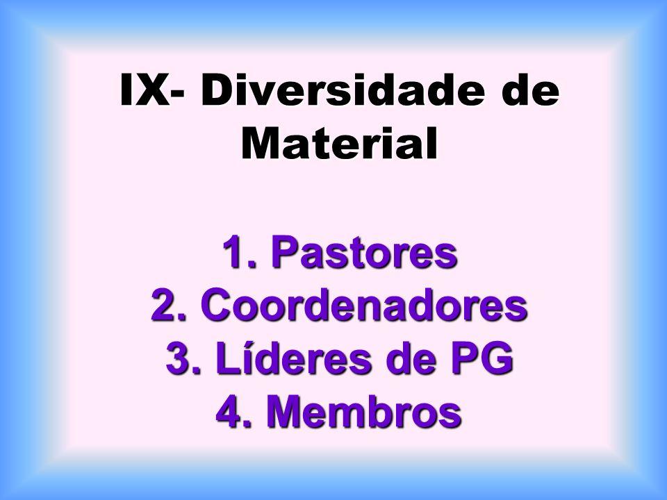 VIII- Realização de Eventos 1-Assembléias 2-Reuniões sociais 3-Congressos 4-Retiros
