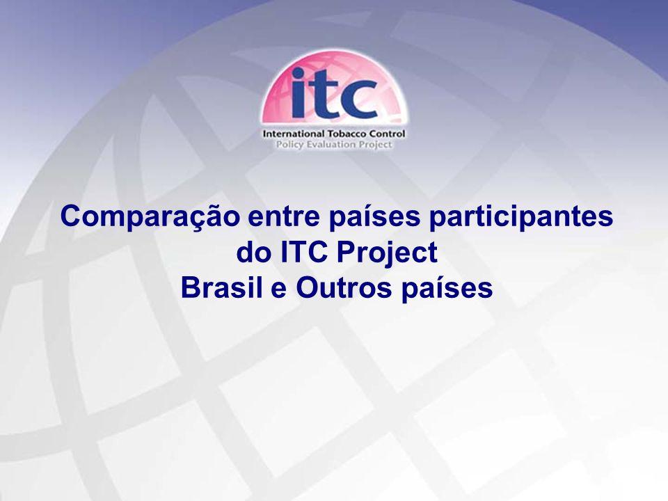 11 Comparação entre países participantes do ITC Project Brasil e Outros países