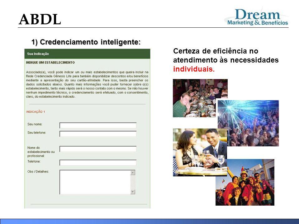 ABDL 1) Credenciamento inteligente: Certeza de eficiência no atendimento às necessidades individuais.