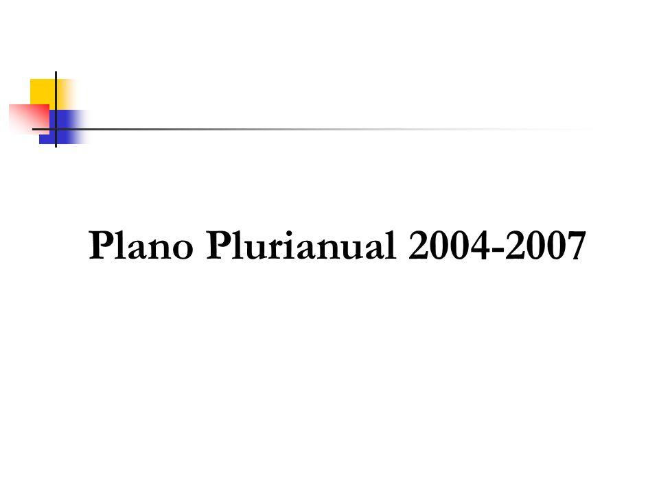 O Plano Plurianual Instrumento de Planejamento de médio prazo que organiza a atuação do governo, de forma a convergir para os objetivos almejados, a partir dos compromissos com a sociedade.