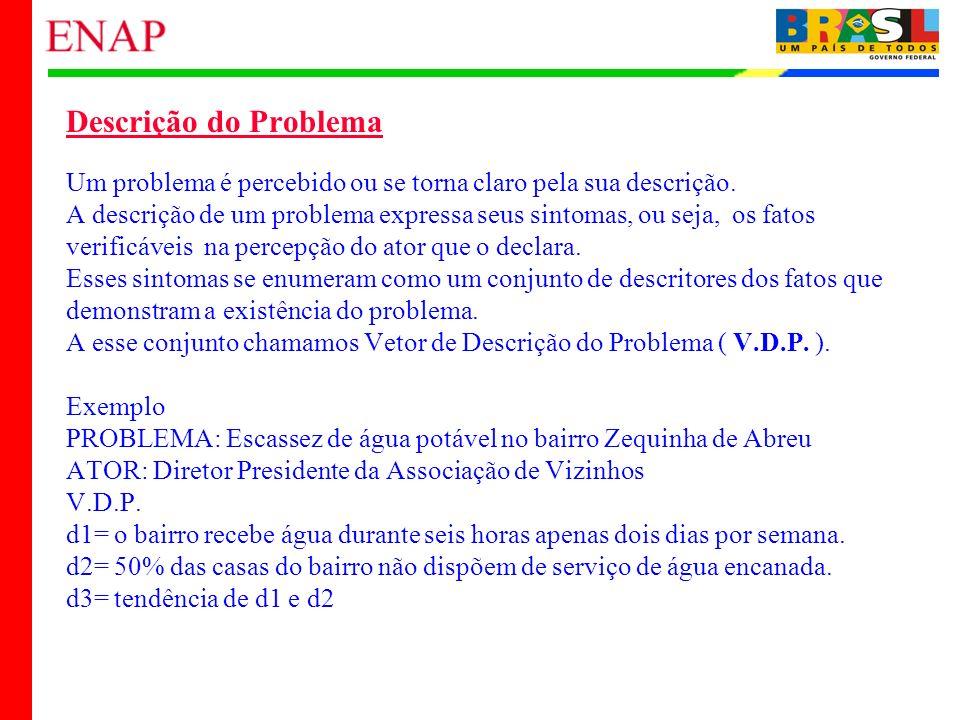 21 Descrição do Problema Um problema é percebido ou se torna claro pela sua descrição. A descrição de um problema expressa seus sintomas, ou seja, os