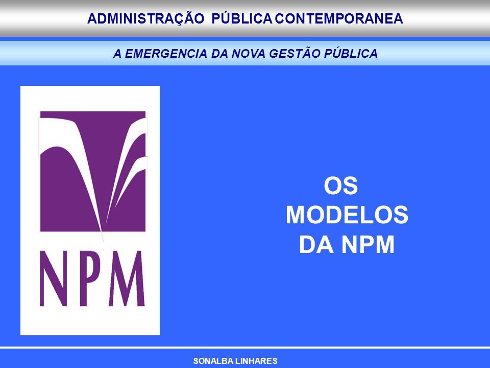 ADMINISTRAÇÃO PÚBLICA CONTEMPORANEA A EMERGENCIA DA NOVA GESTÃO PÚBLICA OS MODELOS DA NPM SONALBA LINHARES