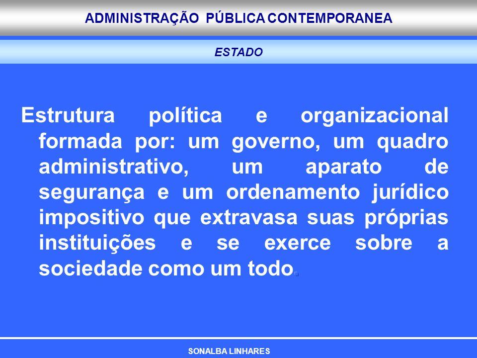 ADMINISTRAÇÃO PÚBLICA CONTEMPORANEA ESTADO SONALBA LINHARES