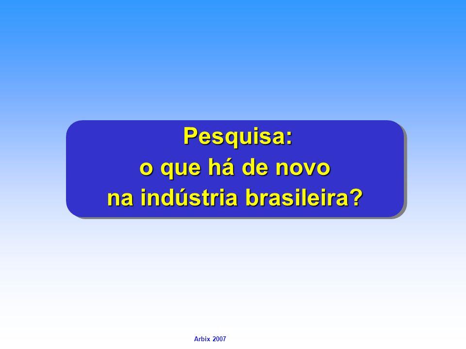Arbix Arbix 2007 Pesquisa: Pesquisa: o que há de novo na indústria brasileira? Pesquisa: Pesquisa: o que há de novo na indústria brasileira?