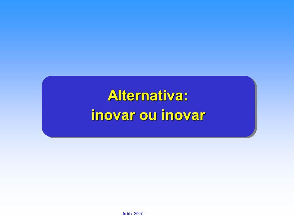 Arbix Arbix 2007 Alternativa: Alternativa: inovar ou inovar Alternativa: Alternativa: inovar ou inovar