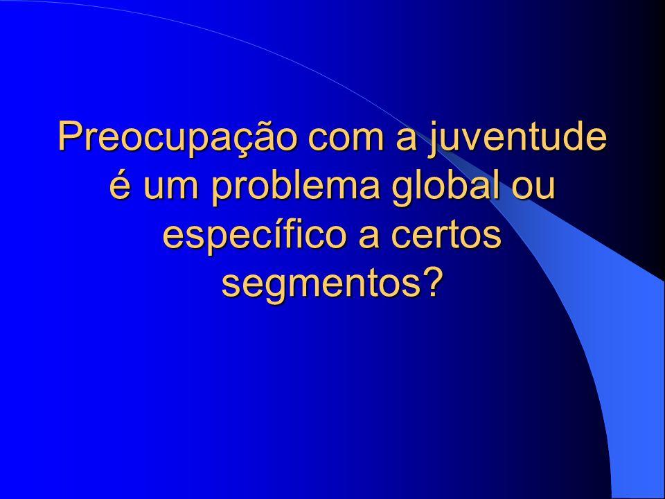 Preocupação com a juventude é um problema global ou específico a certos segmentos?
