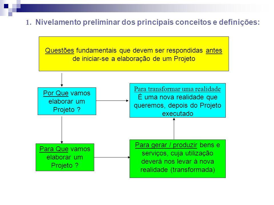 A formulação dos Objetivos: A cada Causa (explicação) ou conjunto delas......deverá corresponder......uma Operação ou Ação (em geral na forma de Atividades) que, implementadas, expressam, na verdade, os alcances parciais do Objetivo de Projeto.
