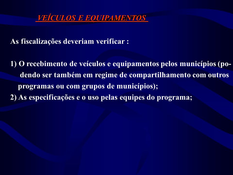 INSETICIDAS/LARVICIDAS INSETICIDAS/LARVICIDAS As fiscalizações deveriam verificar : 1) O recebimento de inseticidas/larvicidas pelos municípios 2) A constatação de sobras ou faltas; 3) Condições de armazenagem, validade dos produtos.