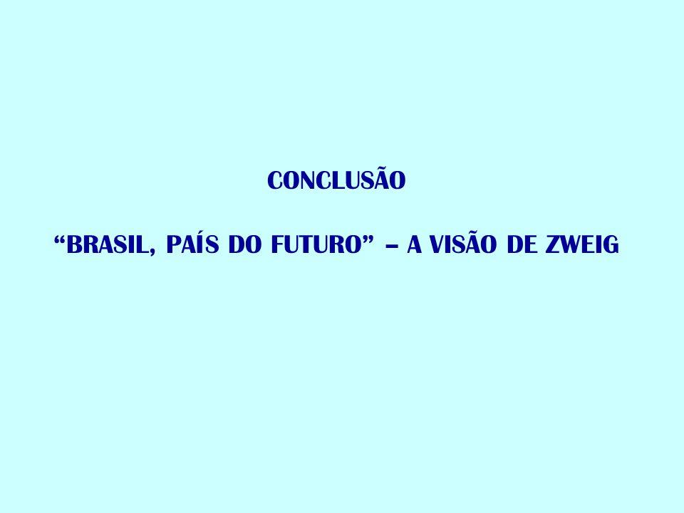 CONCLUSÃO BRASIL, PAÍS DO FUTURO – A VISÃO DE ZWEIG