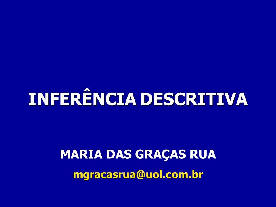 INFERÊNCIA DESCRITIVA MARIA DAS GRAÇAS RUA mgracasrua@uol.com.br