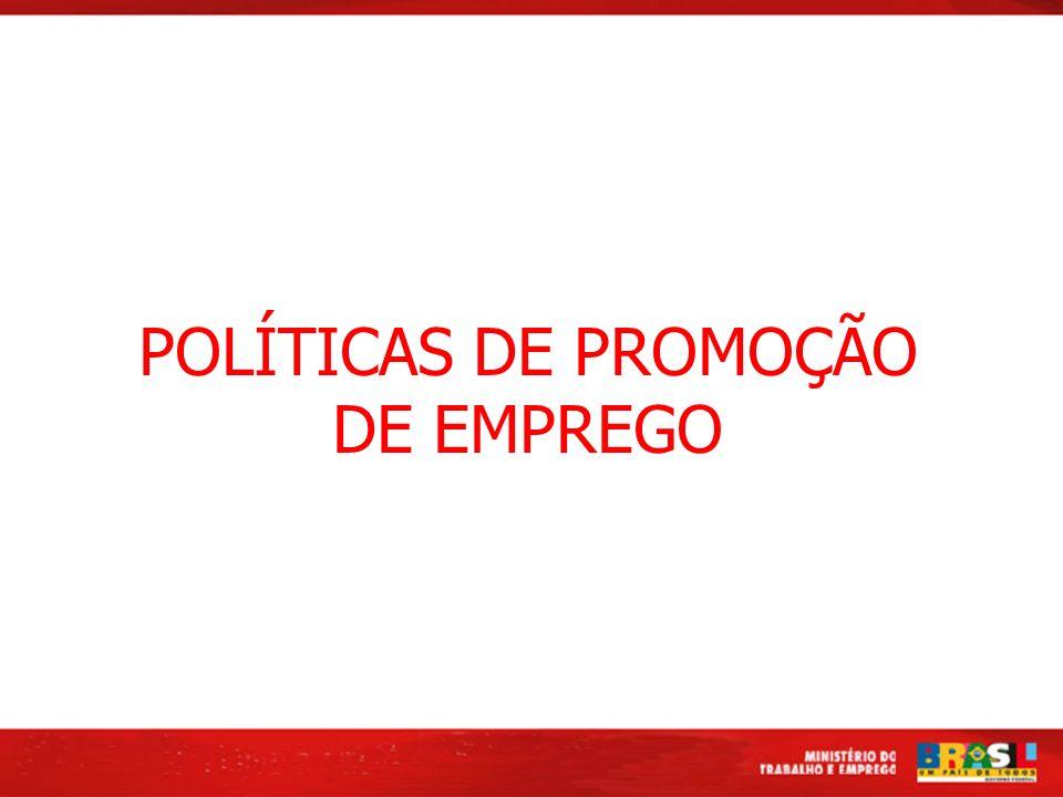 POLÍTICAS DE PROMOÇÃO DE EMPREGO