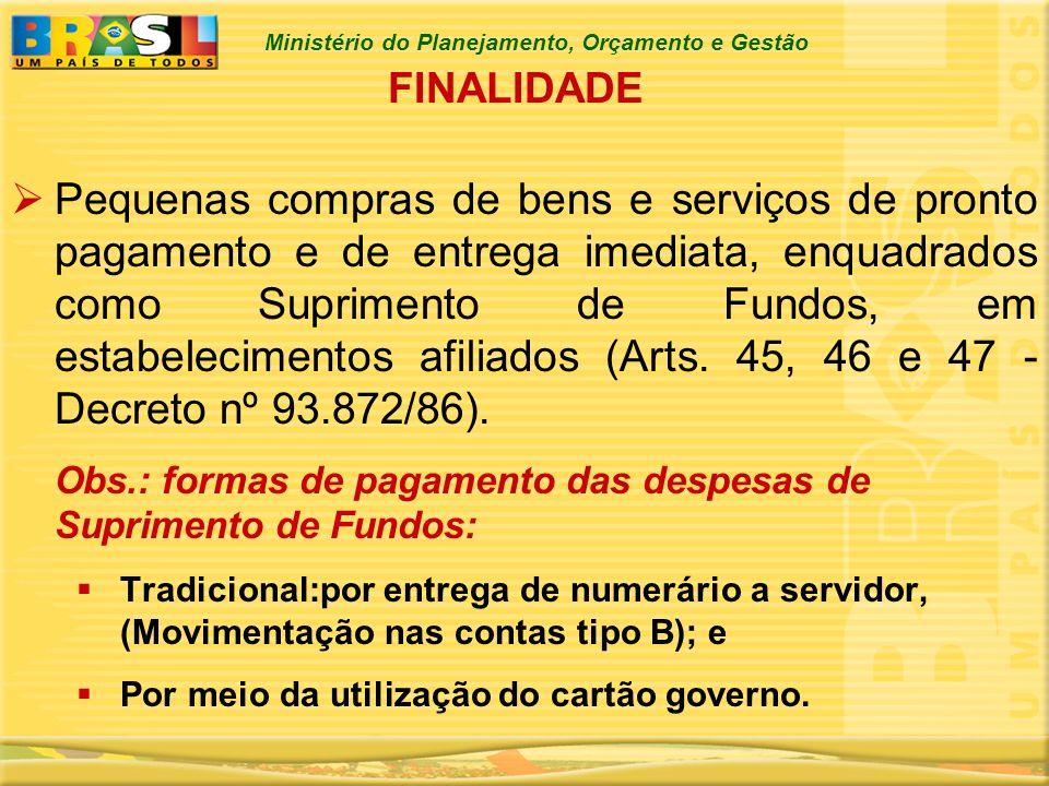 Ministério do Planejamento, Orçamento e Gestão OBJETIVOS Redução de custos.