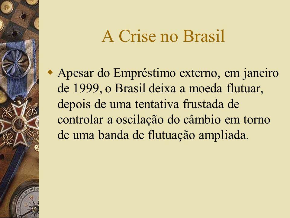 Crise na Rússia e na América Latina Em maio de 1998 a Rússia sofreu uma corrida contra o Rublo Em Julho foi conseguido um empréstimo de US$23 bilhões
