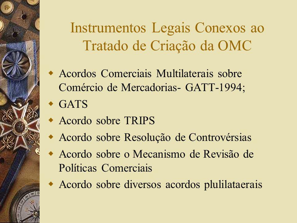 Ato Final da Rodada Uruguai Assinado em Marrakech em 15 de abril de 1994; Criada formalmente a OMC, cujo objetivo era ser o quadro institucional comum