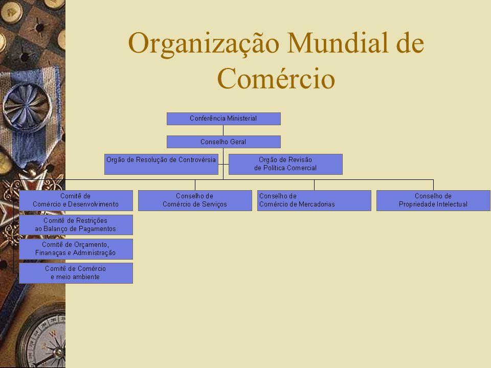 Instrumentos Legais Conexos ao Tratado de Criação da OMC Acordos Comerciais Multilaterais sobre Comércio de Mercadorias- GATT-1994; GATS Acordo sobre