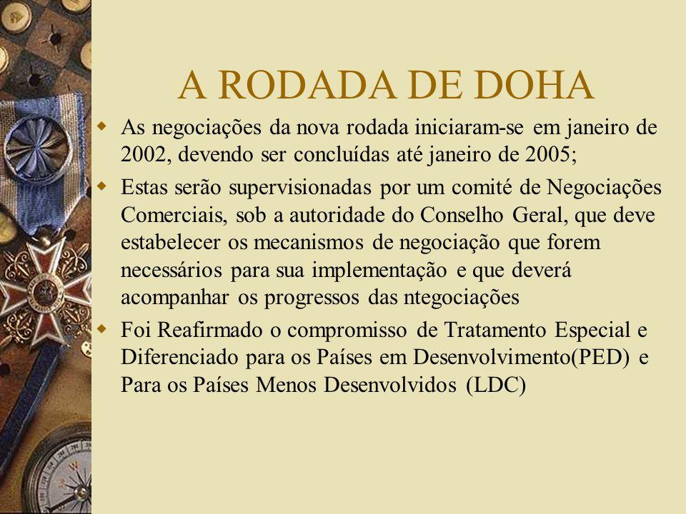 A Reunião Ministerial de DOHA Em Dezembro de 2001 realizou-se na capital do Catar uma reunião ministerial que ficou histórica; Em primeiro lugar foram