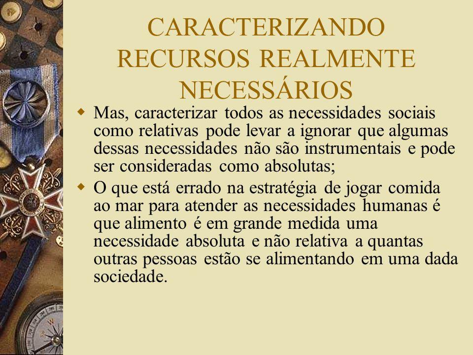 Necessidades e Desejos O debate sobre o padrão de vida mínimo e as necessidades sociais são cruciais em questões históricas (ex. padrão de vida na Rev
