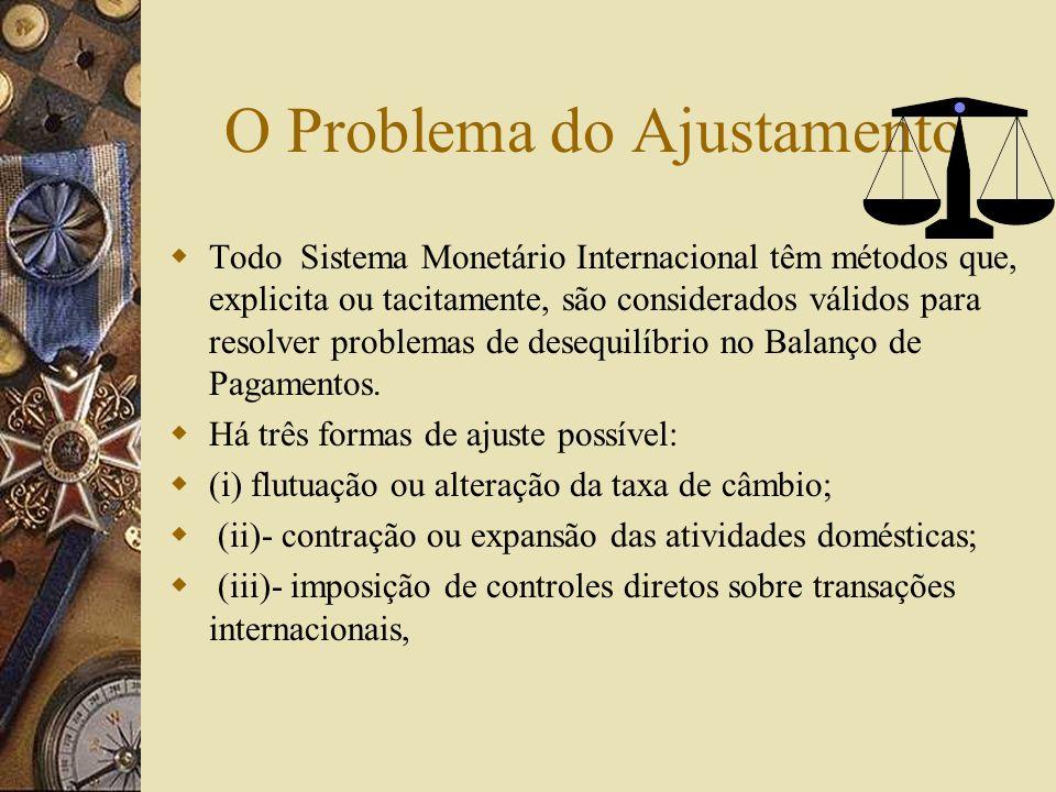 O Problema da Liquidez Para garantir a liquidez o sistema monetário internacional deve prover uma oferta de moeda internacional que não seja nem infla