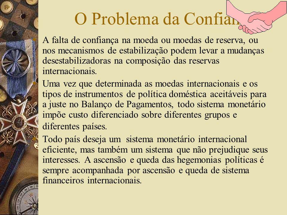 O Problema do Ajustamento Todo Sistema Monetário Internacional têm métodos que, explicita ou tacitamente, são considerados válidos para resolver probl