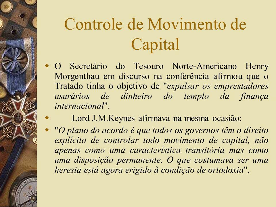 Bretton Woods e a autonomia doméstica O sistema de Bretton Woods pretendia resolver o conflito entre autonomia doméstica e estabilidade internacional