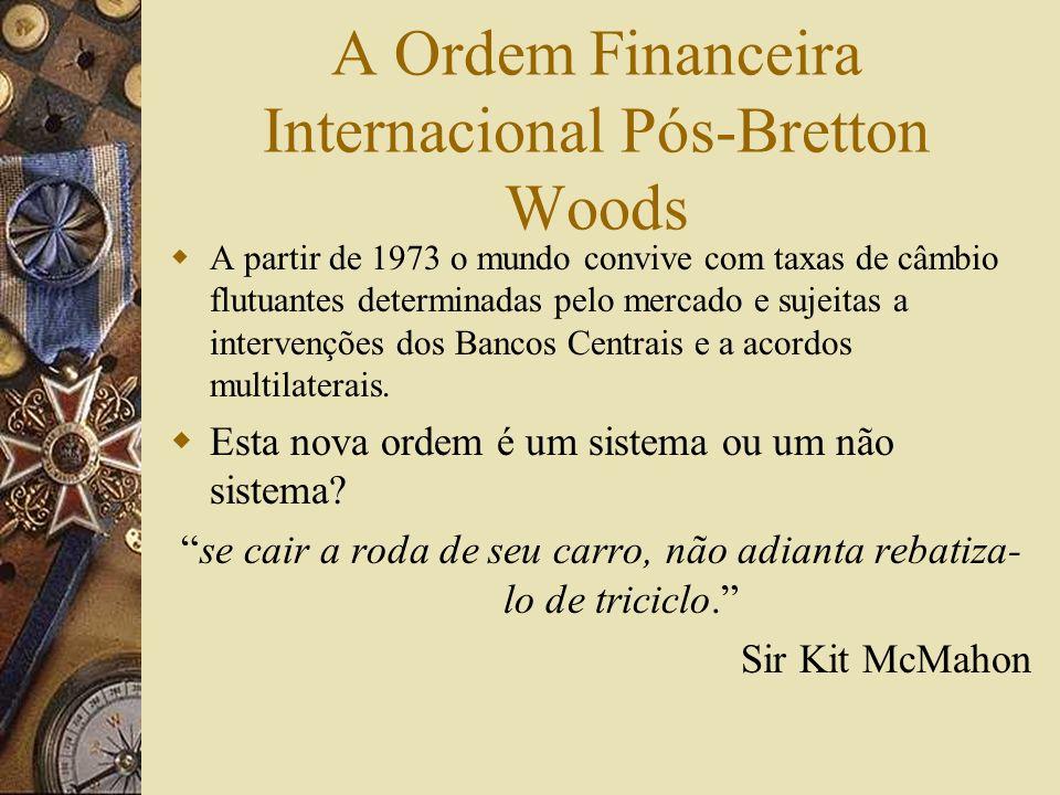 Razões Para o Fracasso do Sistema de Bretton Woods Os bancos centrais aceitaram deter dólares enquanto tinham confiança de que podiam convertê-los em