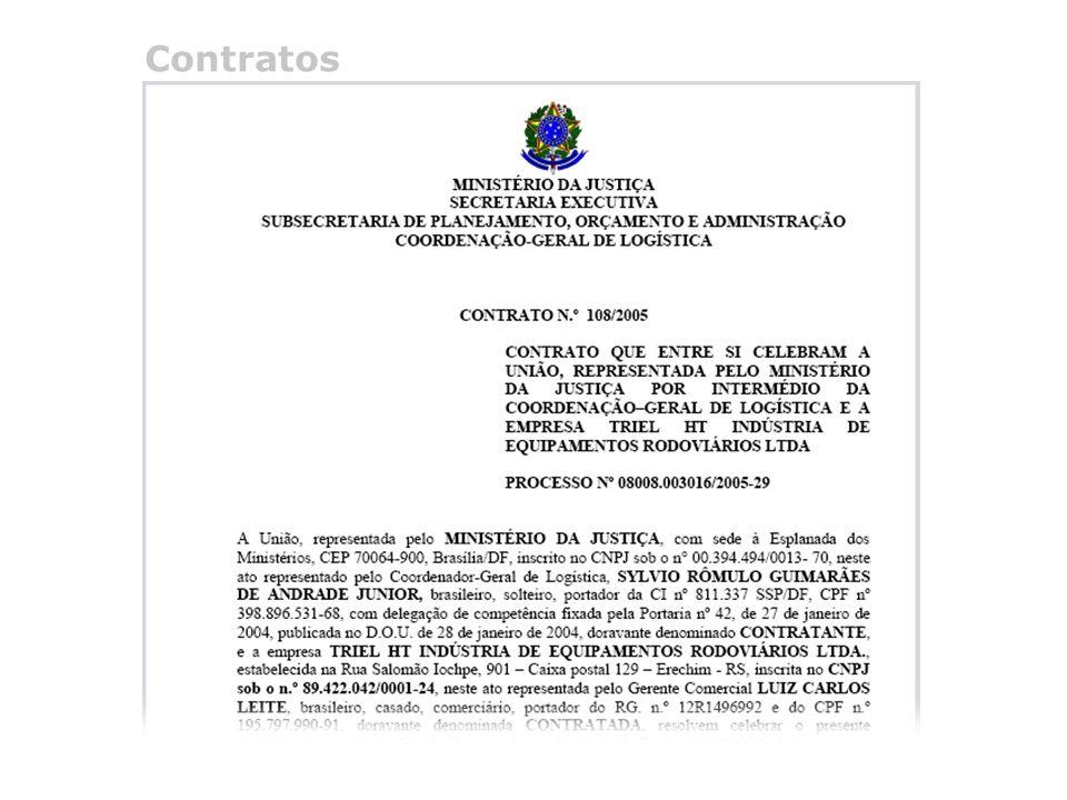 @ 2005 Programa de Transparência do Ministério da Justiça Telefone (0xx61) 3429.9933 Contratos