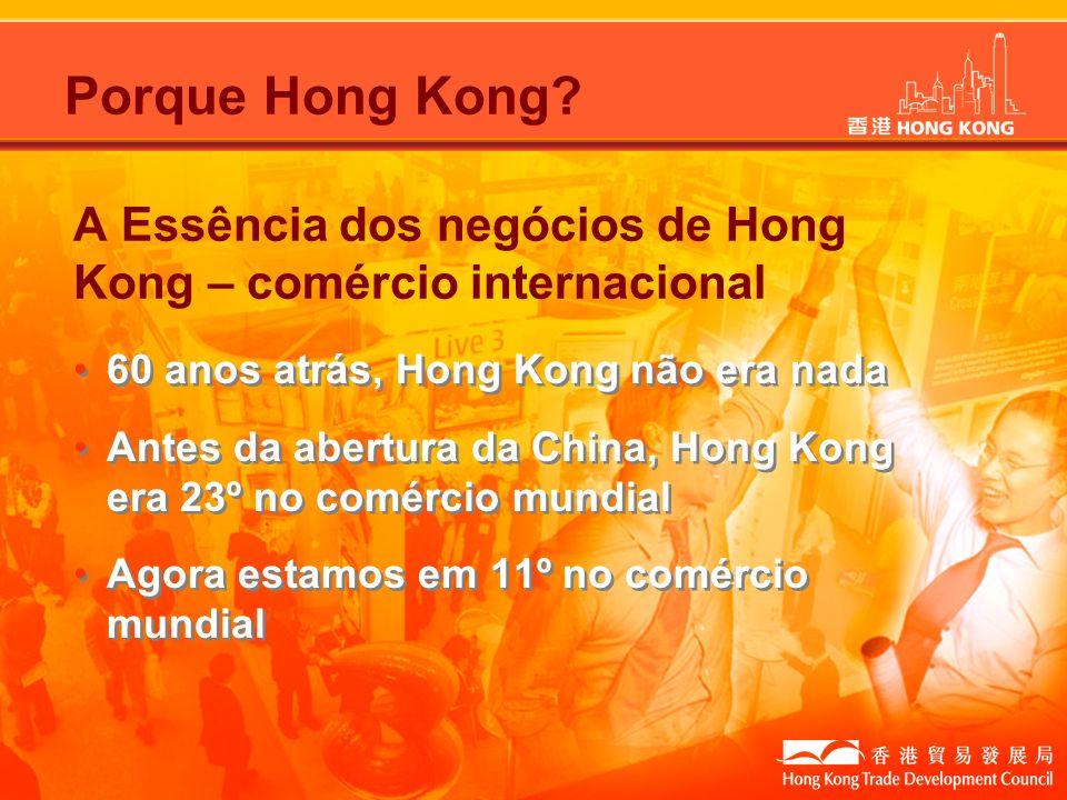 Porque Hong Kong? A Essência dos negócios de Hong Kong – comércio internacional 60 anos atrás, Hong Kong não era nada Antes da abertura da China, Hong