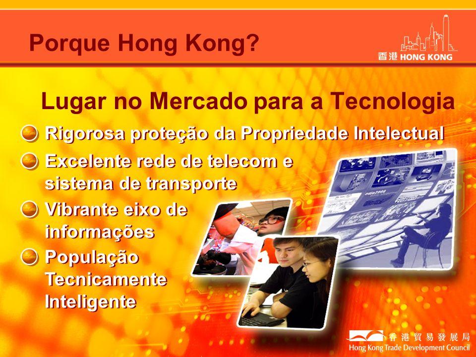 Rigorosa proteção da Propriedade Intelectual Excelente rede de telecom e sistema de transporte Vibrante eixo de informações População Tecnicamente Int