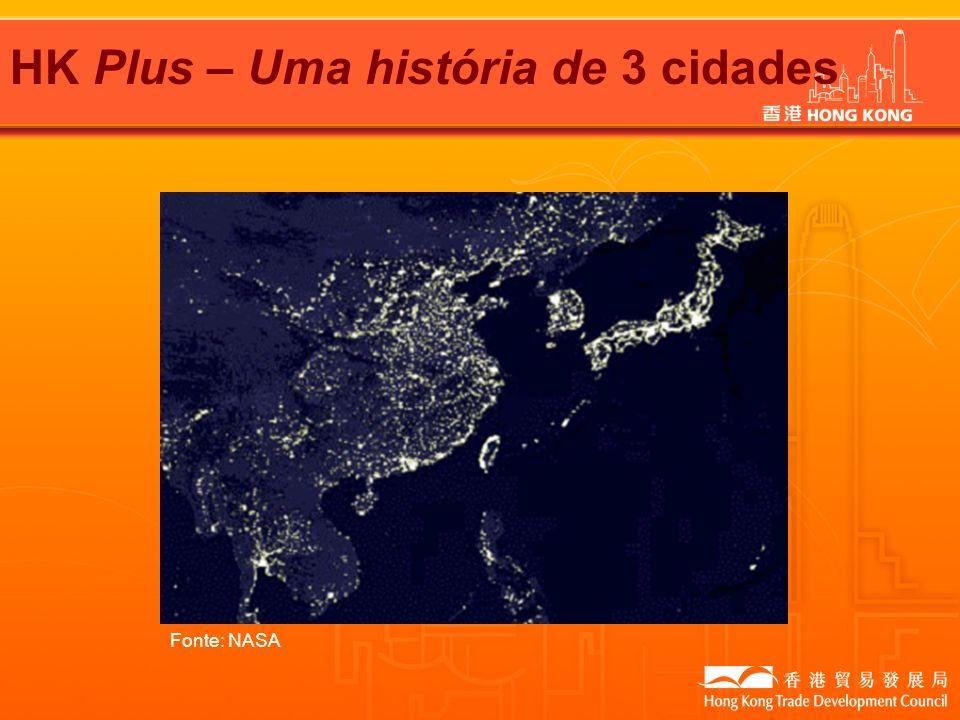 HK Plus – Uma história de 3 cidades Fonte: NASA