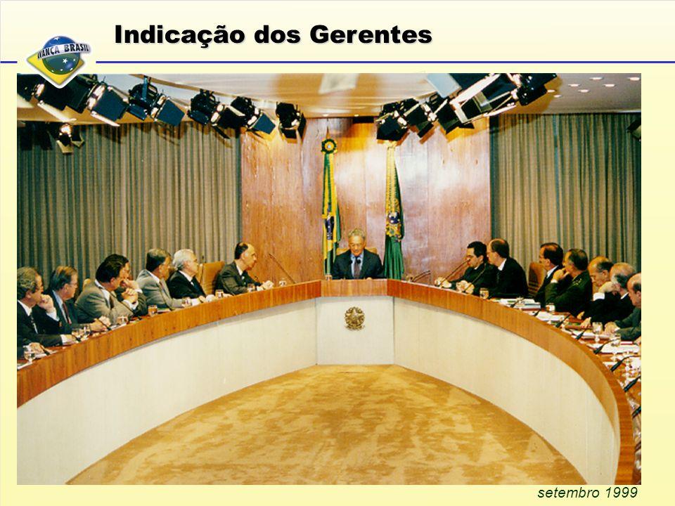 setembro 1999 Indicação dos Gerentes