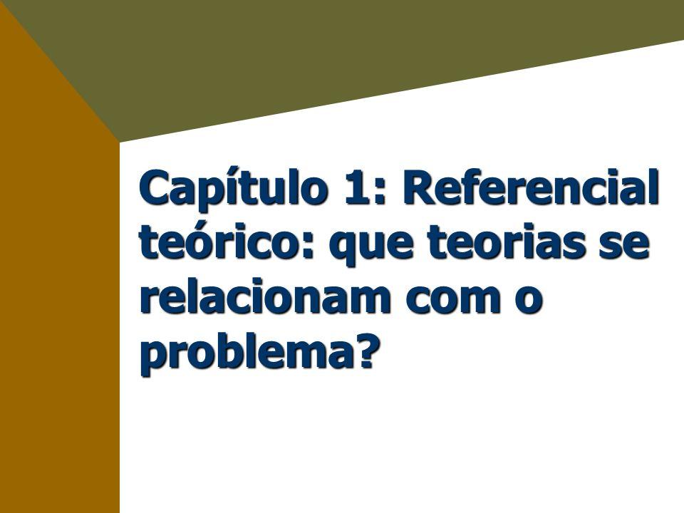 Capítulo 1: Referencial teórico: que teorias se relacionam com o problema?