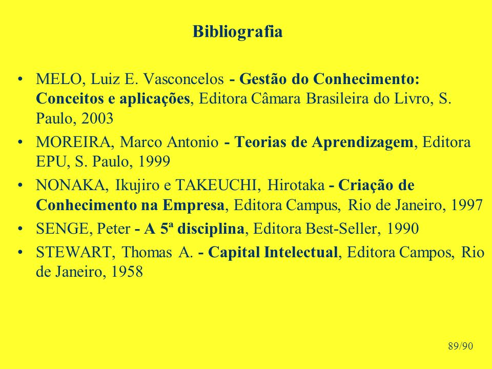 Bibliografia MELO, Luiz E.