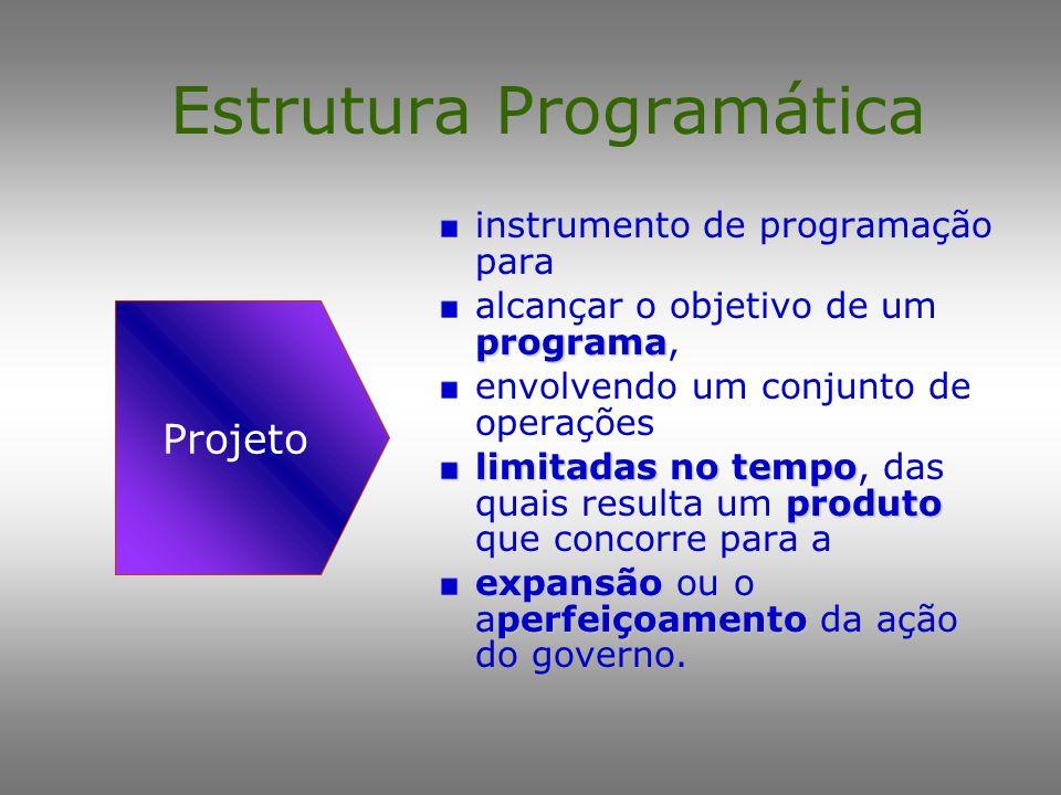 Estrutura Programática instrumento de programação para programa alcançar o objetivo de um programa, envolvendo um conjunto de operações contínuoperman